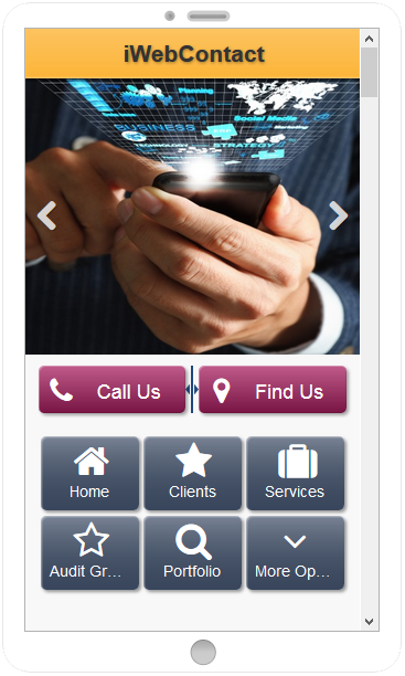iWebContact Mobile Website